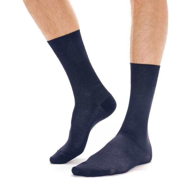 Navy lisle socks for men, , DIM