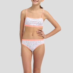 2 pack Cuba coral stretch cotton bras Dim Girl, , DIM