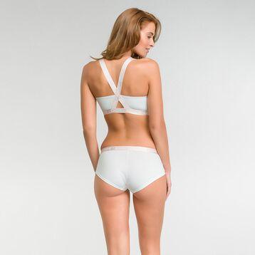 Brassière femme triangle en coton blanc nacre - Les Pockets, , DIM