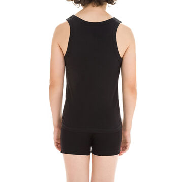 Black DIM Boy stretch cotton tank top - DIM