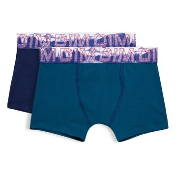 Set of 2 Northern Boy sailor blue and diesel blue boxers - DIM