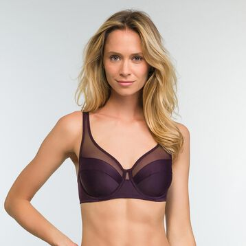Precious Purple Full Cup Underwired Bra Generous, , DIM