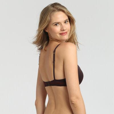 Dim InvisiFit precious brown padded balconette bra, , DIM