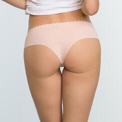 Lot de 2 culottes Hipsters Violet Précieux et Skin Rose Body Touch Microfibre, , DIM
