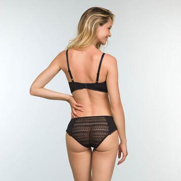 Bustier Balconette Bra in Black Lace Mod by Dim, , DIM