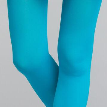 Collant bleu émail opaque velouté 50D - DIM Style, , DIM