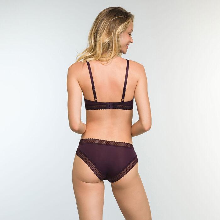 Soutien-gorge Triangle Ampliforme Violet Précieux Trendy Micro, , DIM