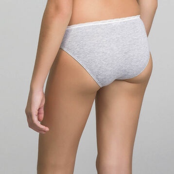 DIM TRENDY Girl mottled grey knickers - DIM