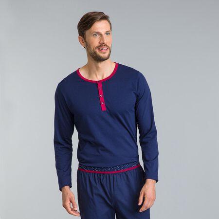 Camiseta de pijama de manga larga azul marino Signature b5124acf136