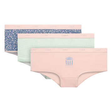 3 pack Olympe shorties - Les Pockets Coton Stretch, , DIM
