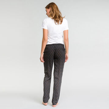 Polka dots black pyjama pants - Fashion, , DIM