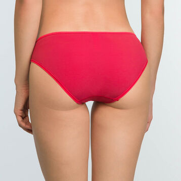 Casual Red Microfiber and Mesh Briefs Generous, , DIM