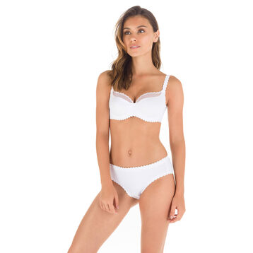 White Body Touch balconette bra, , DIM