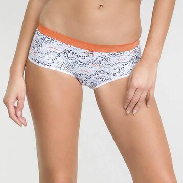 Lot de 2 boxers Femme corail et imprimé écume - Les Pockets Microfibre, , DIM