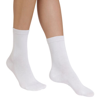White Sublim hydrating socks for women, , DIM