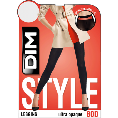 Legging noir opaque velouté 80D Madame so Daily-DIM