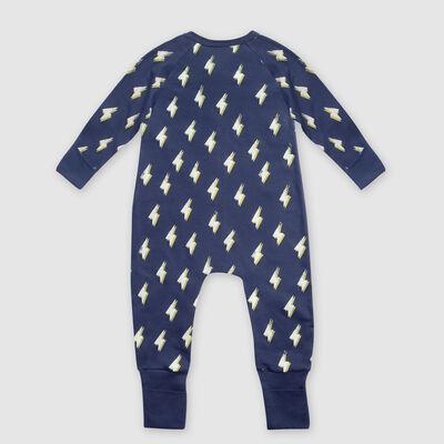 """Серая хлопковая пижама на молнии с принтом """"Молния"""" Dim Baby, , DIM"""