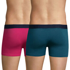 Lot de 2 boxers violets fuchsia et bleu pétrole Mix & Fancy-DIM