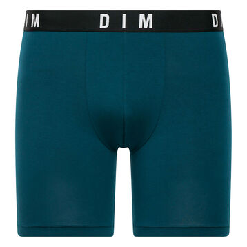 Peacock blue long trunks in modal and cotton - DIM Originals, , DIM
