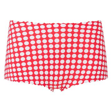 Red high-waist shorty with white polka dots Agnès B. x Dim, , DIM