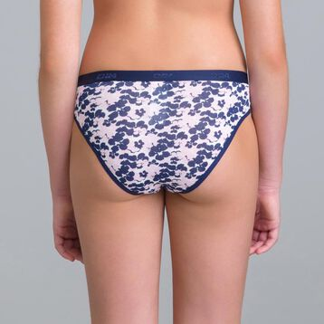 Set of 3 DIM Girl Pocket Blue Flower knickers - DIM