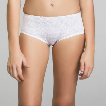 Shorty blanc fille imprimé logo - Dim Touch , , DIM