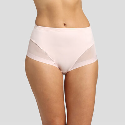 Ballerina pink invisible high-waisted briefs Generous Limited Edition, , DIM
