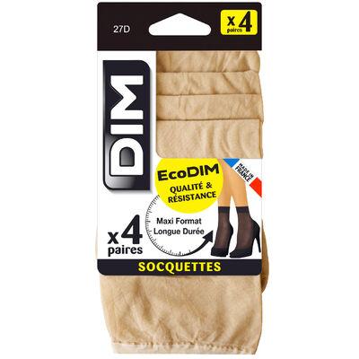 Lot de 4 socquettes capri EcoDIM semi-opaques 30D, , DIM