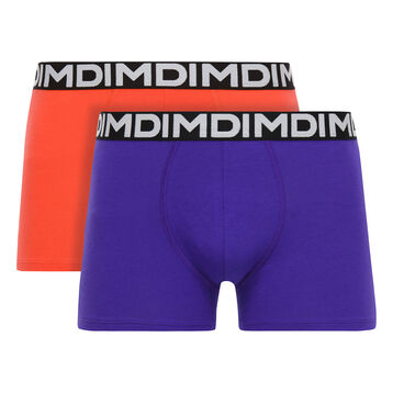 Lot de 2 boxers violets lilas et corail Mix & Fancy-DIM