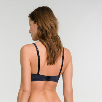 Non-wired dark blue invisible bra - Dim InvisiFree, , DIM