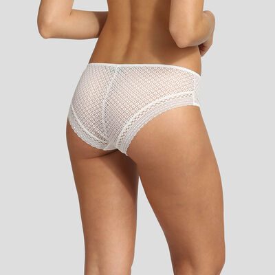 Dim Résille Chic white lace briefs, , DIM