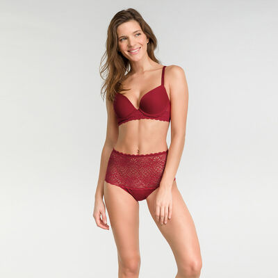 Imperial red high-waisted brief - Dim Sublim Dentelle, , DIM