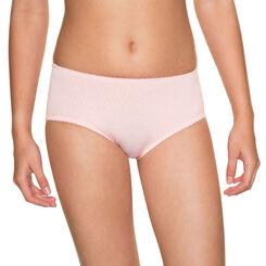 Powder pink DIM Girl microfibre printed boyshorts - DIM