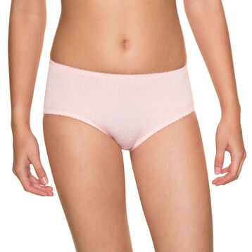 Powder pink DIM Girl microfibre printed boyshorts - DIM