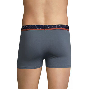 Grey trunks with black and brown waistband - Dim Mix & Dots, , DIM