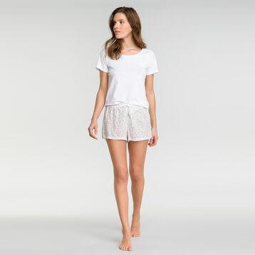 Short pyjama blanc tacheté - Fashion, , DIM