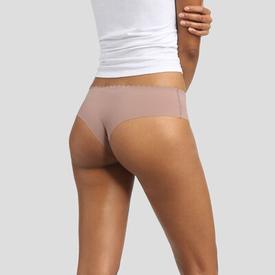 Pack de 2 braguitas hipsters color tierra Body Touch Microfibre, , DIM