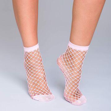 Socquettes résille filet rose blush 54D Style-DIM