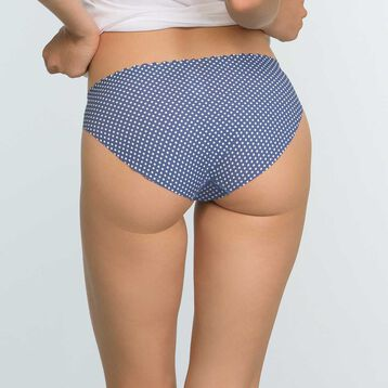 2 Pack Body Touch Microfiber Briefs Blue Polka Dot and Pearl, , DIM