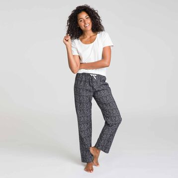 Soft & Cool black pyjama pants - DIM