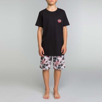 Black and printed pyjama set Dim Boy - Nuit Comic, , DIM