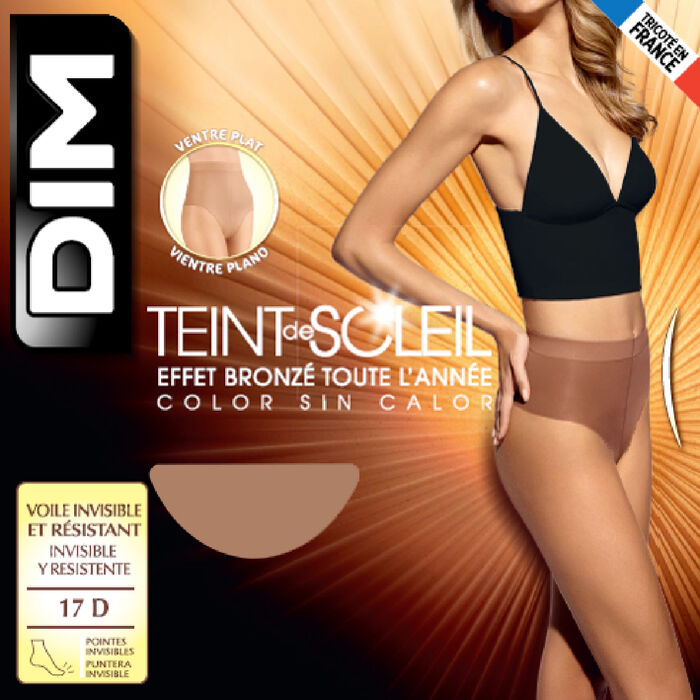 Teint de Soleil 17 tummy flattening bronzer tights in tan, , DIM