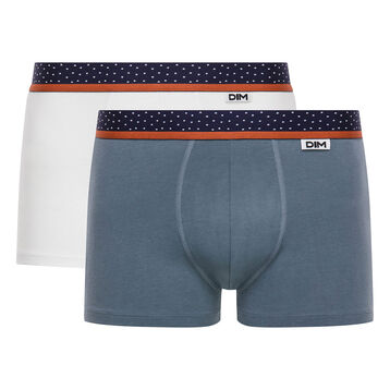 2-pack white and grey trunks - Dim Mix and Dots, , DIM