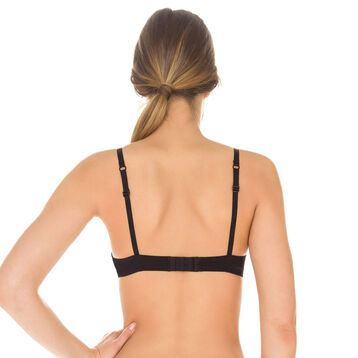 Black Invisi Fit non-wired push-up bra, , DIM