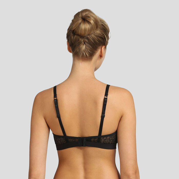 Dim Mod black soft triangle bra, , DIM
