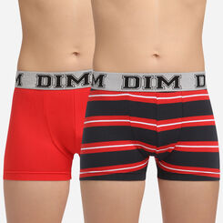 2 pack Poppy stretch cotton trunks Dim Boy Rythmics, , DIM