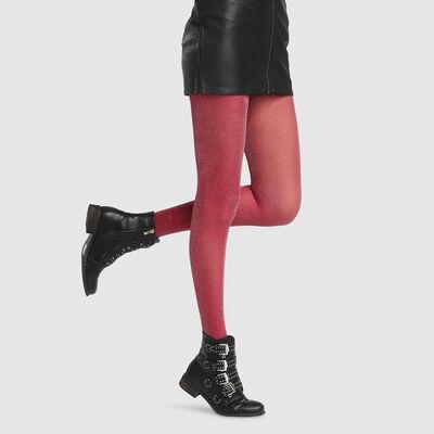 Dim Style 23D fancy tights in dark pink lurex, , DIM