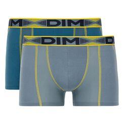 Lot de 2 boxers bleu pétrole et Gris souris 3D Flex Air-DIM