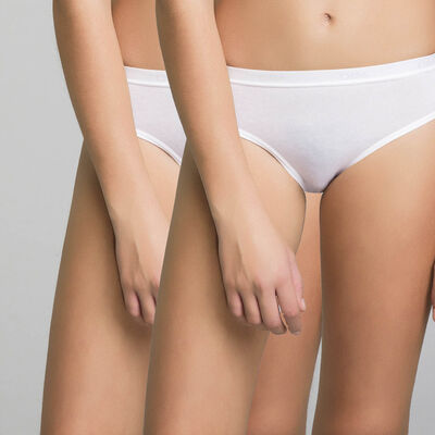 2 pack white briefs Dim Girl- Pocket Basic , , DIM