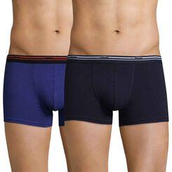 Lot de 2 boxers bleu indigo et bleu cobalt Daily Colors-DIM